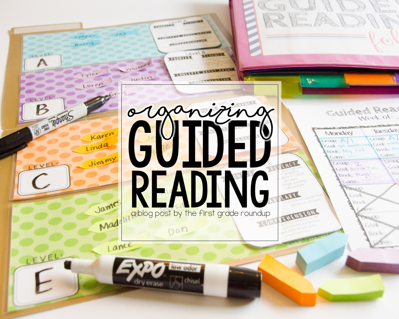 Organizing Guided Reading - Firstgraderoundup