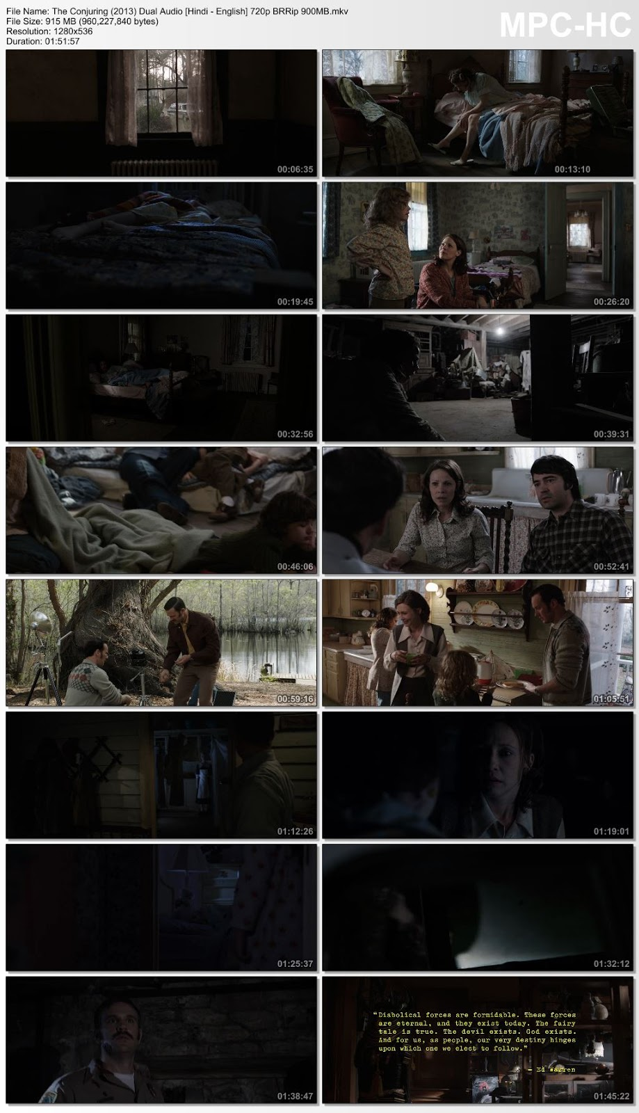 The Conjuring (2013) Dual Audio [Hindi – English] 720p BRRip 900MB Desirehub