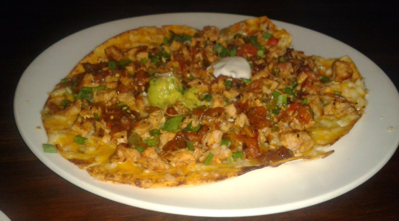Hard Rock BBQ Chicken Tostadas