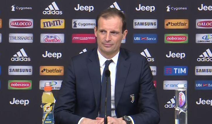 La conferenza di Allegri in vista della sfida dell'Olimpico Lazio Juventus