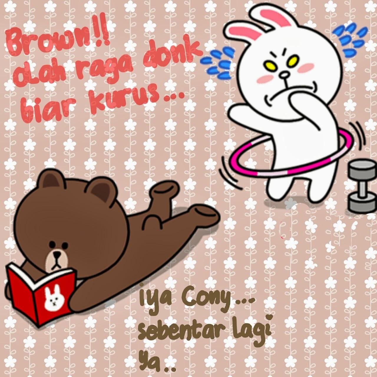 DP Bbm Line Lucu Brown And Cony Info Unik Lucu Menarik DP BBM