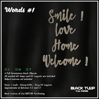 [Black Tulip] Mesh - Words #1