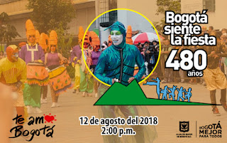 Desfile de comparsas Bogotá 2018 1