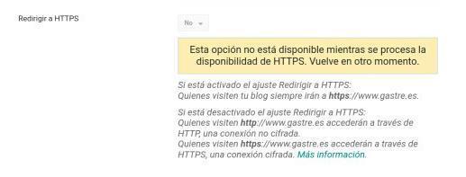 Migrar blogger de HTTP a HTTPS