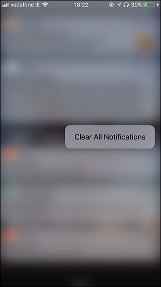 cancellare le notifiche con 3d touch