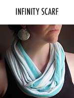 Make this super simple infinity scarf with this tutorial