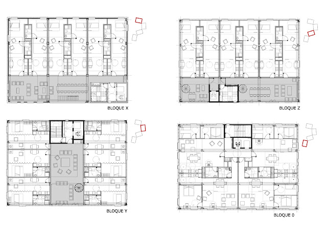 Floor plans of the buildings