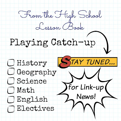 From the High School Lesson Book - Playing Catch-up on Homeschool Coffee Break @ kympossibleblog.blogspot.com - The high school lesson book will be a link-up starting in January 2016! If you blog about #homeschooling #highschool , add your blog to the blog roll here!
