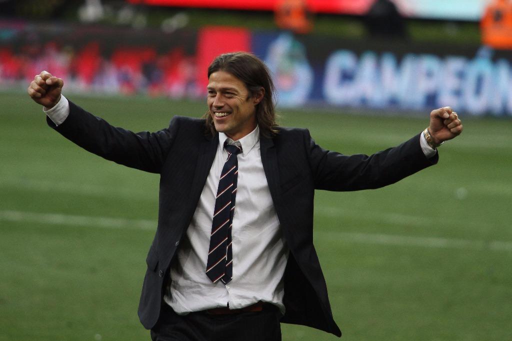 Almeyda celebra después de proclamarse campeón del Clausura 2017 el domingo pasado.