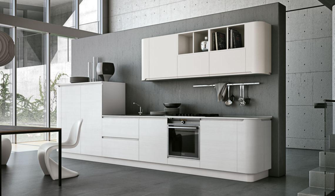 Muebles de cocina de bordes curvos y ondulantes  Cocinas con estilo