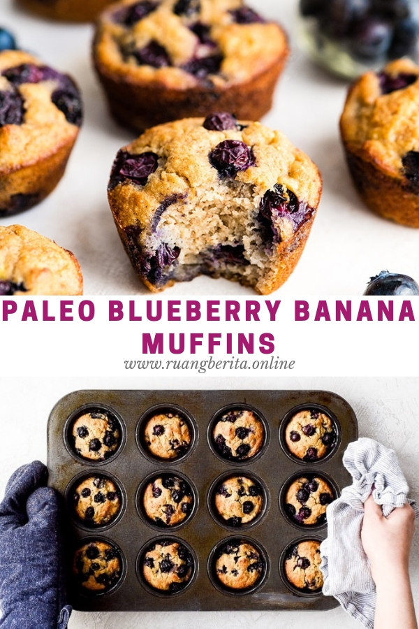 Paleo Blueberry Banana Muffins #breakfast #american #paleo #blueberry #banana #muffins