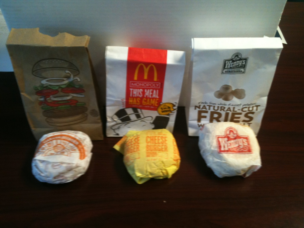 Comparative Reviews 1 Burgers Burger King McDonalds Wendys