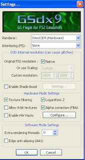 mengatur config video PCSX2 agar cepat