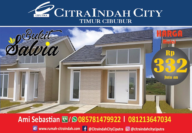 Bukit SALVIA - All New Semi RE Citra Indah City mulai dirilis - Harga Mulai 332 Jtan