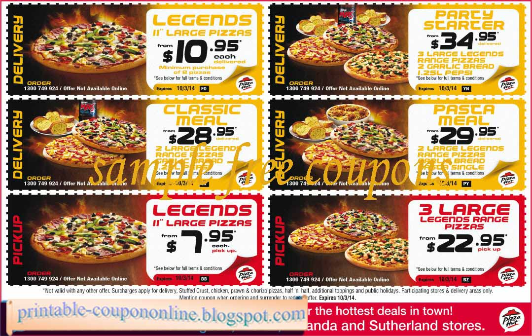 Pizza hut coupon code october 2018