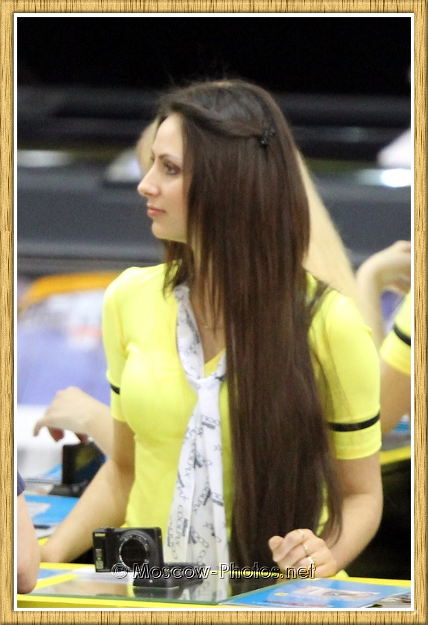 Long-Haired Promotional Model at Photoforum 2011