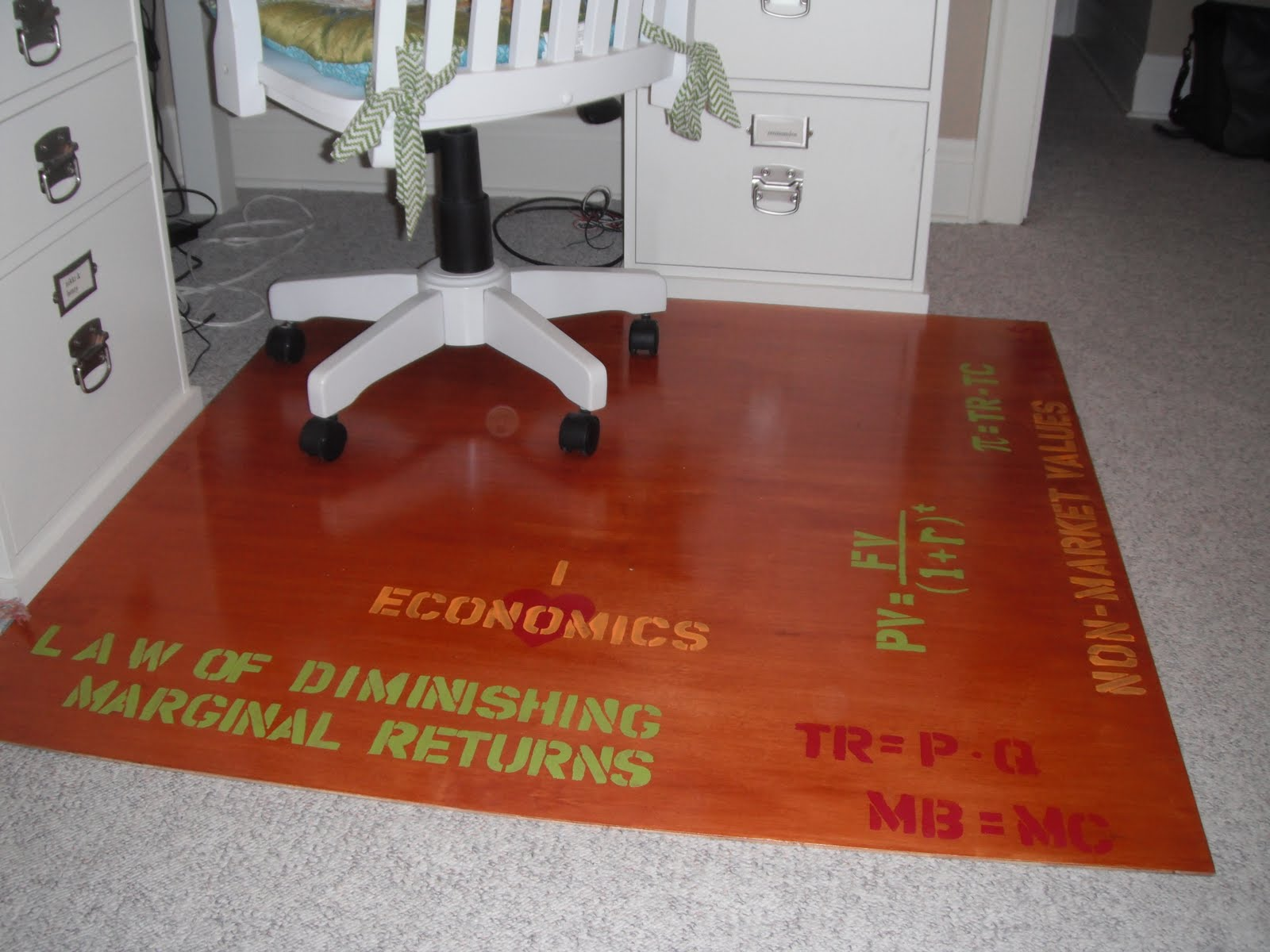 rolling chair mat for wood floors club chairs cheap the lovely residence homemade