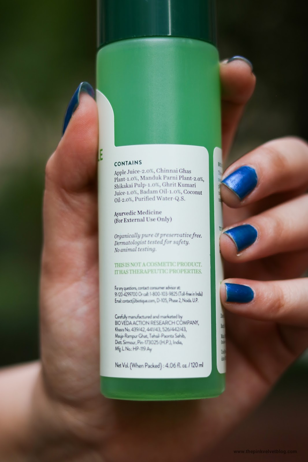 Biotique Green Apple Shampoo Review