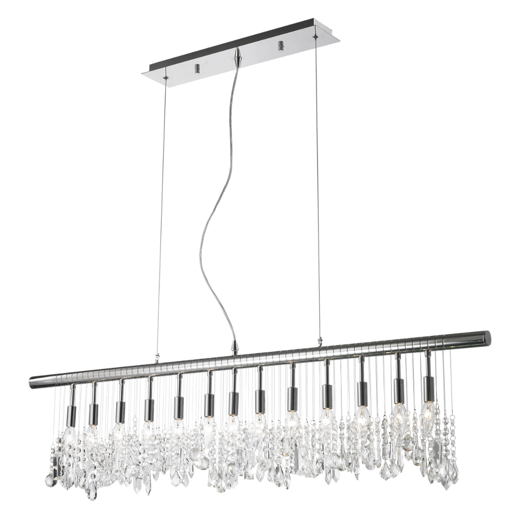 Perfect Design obsession linear crystal chandeliers that look stunning in a kitchen or dining room
