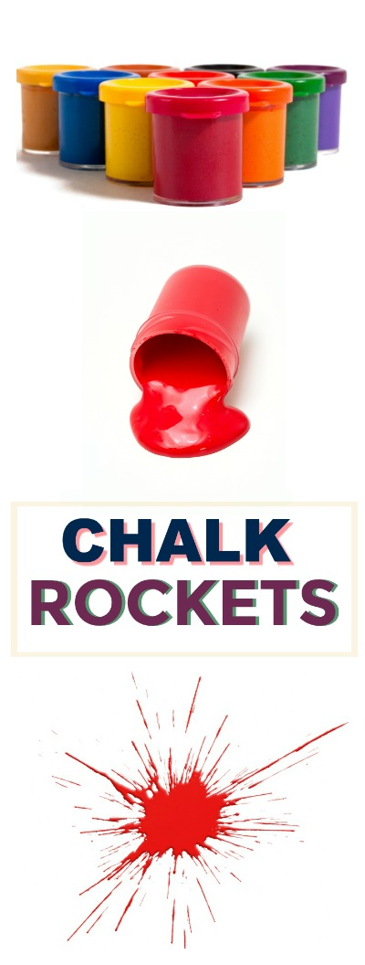 CHALK ROCKETS: Amazing art & science activity for kids. It's a blast!