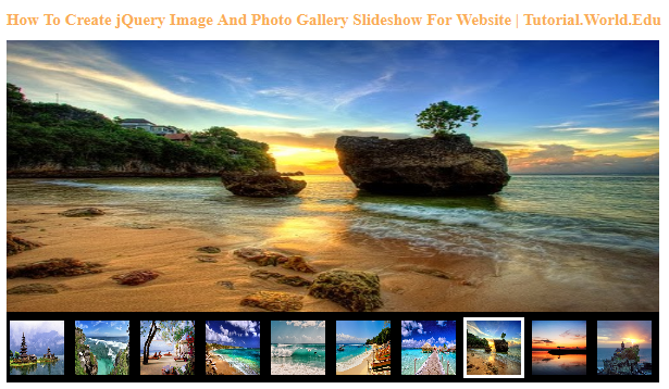 How To Create jQuery Image And Photo Gallery Slideshow For Website