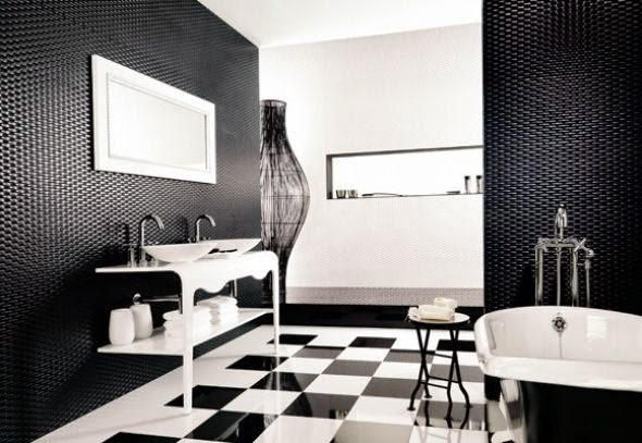 contemporary black and white bathroom decor ideas and furniture