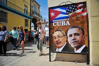 Fotos de Castro y Obama, Habana Vieja