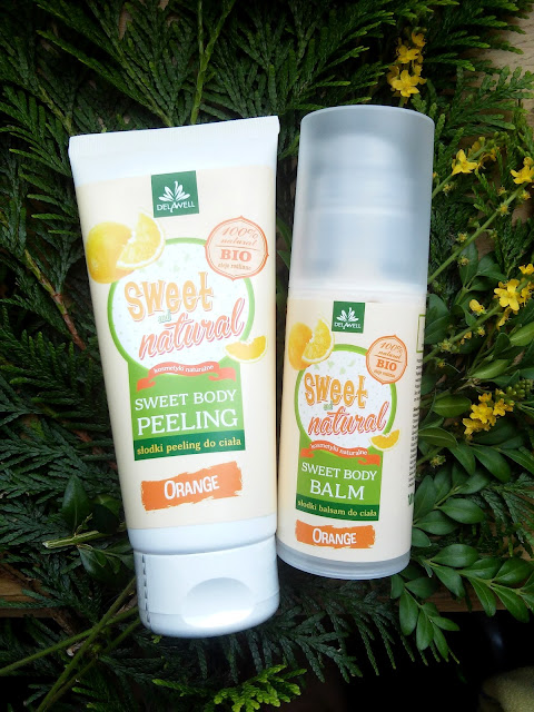 Delawell, Sweet & Natural Orange, Peeling i balsam do ciała