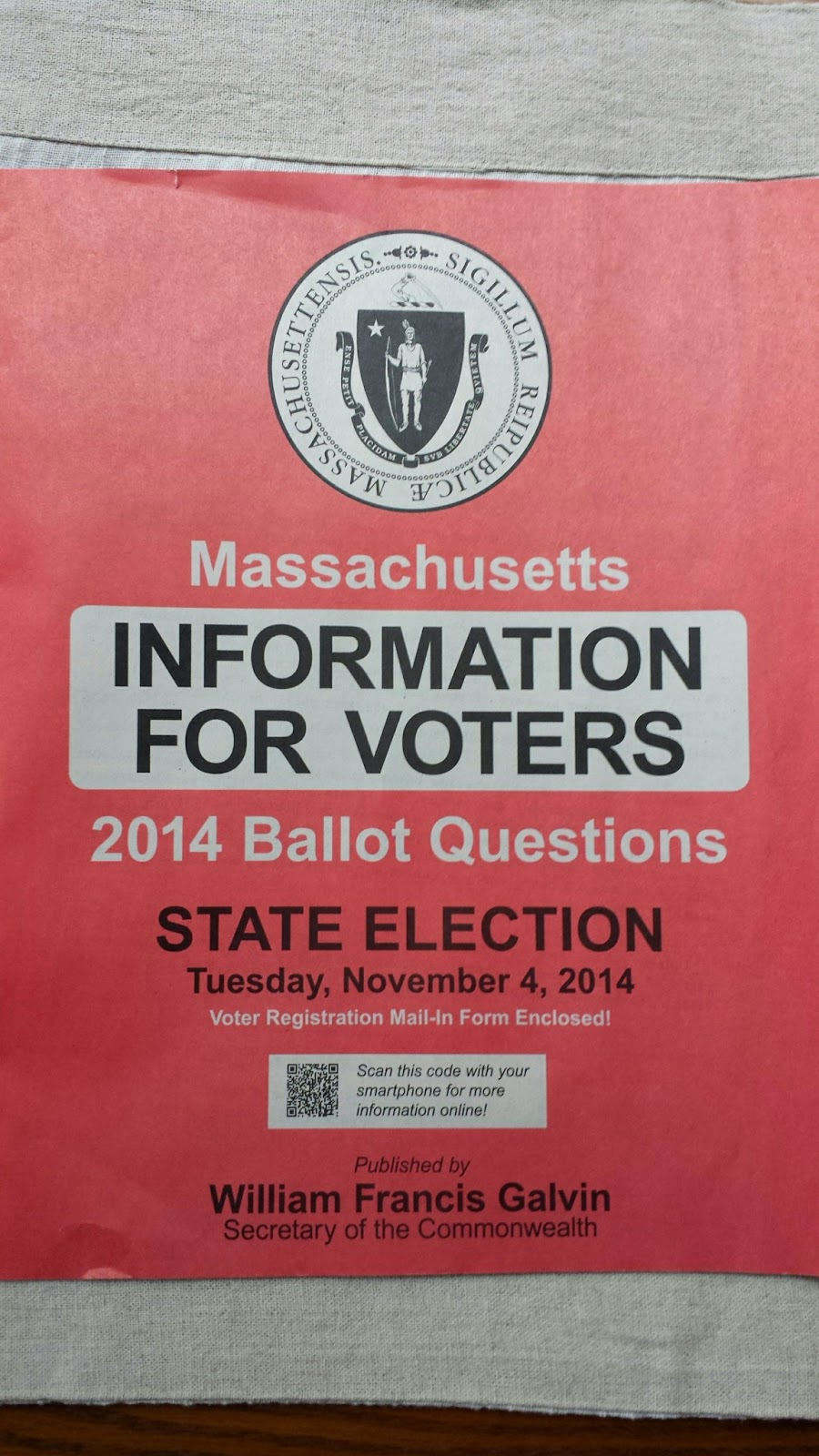 MA Information for Voters - Nov 4, 2014