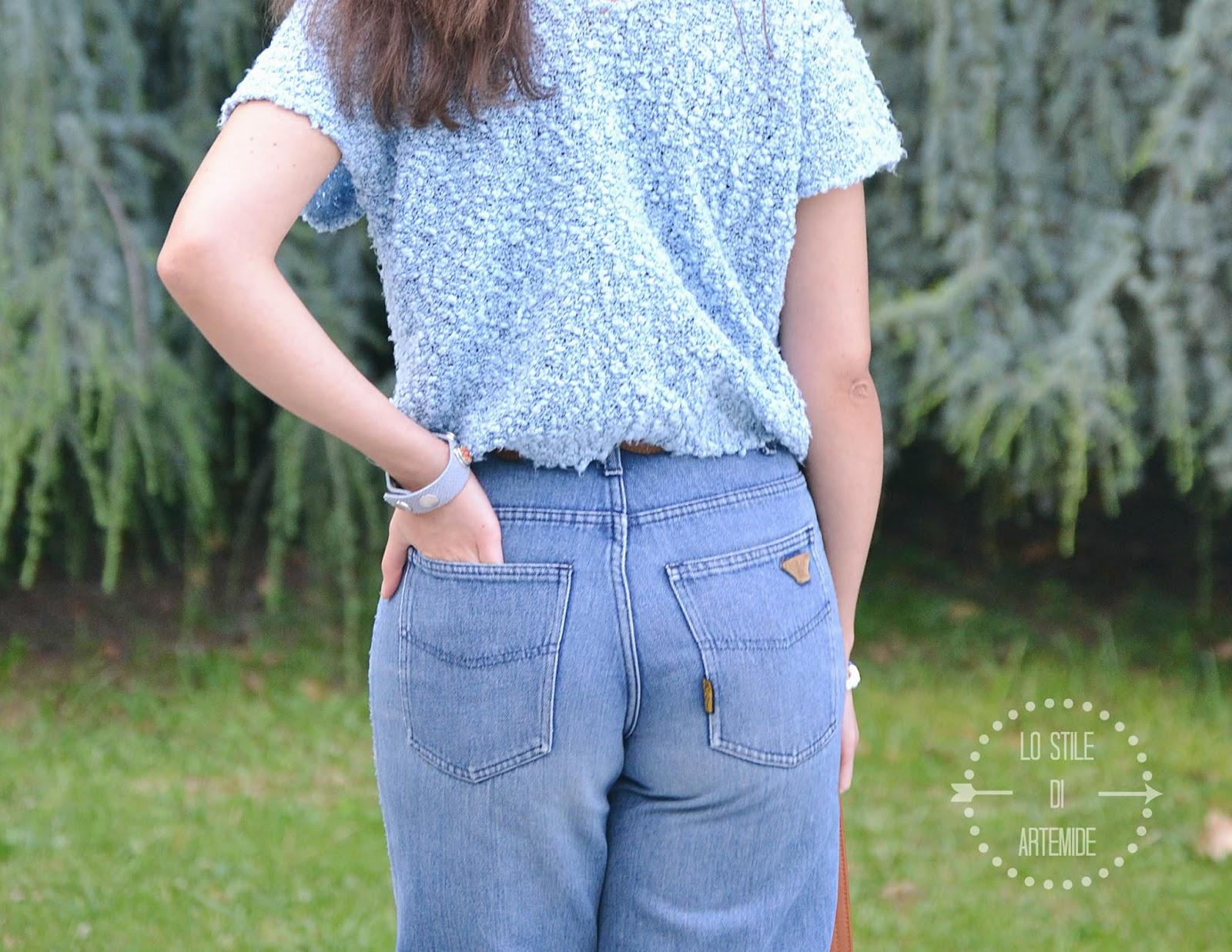 jeans a vita alta vintage