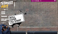 Street Art website landing page