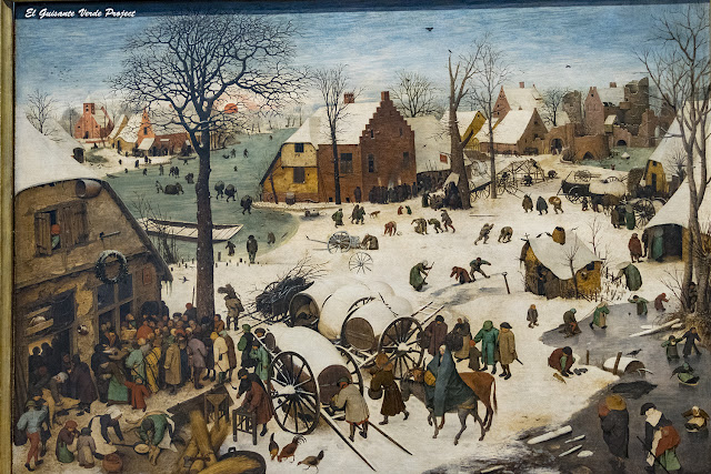 Pieter Bruegel, El Censo en Belén - Museos Reales de Bellas Artes, Bruselas por El Guisante Verde Project