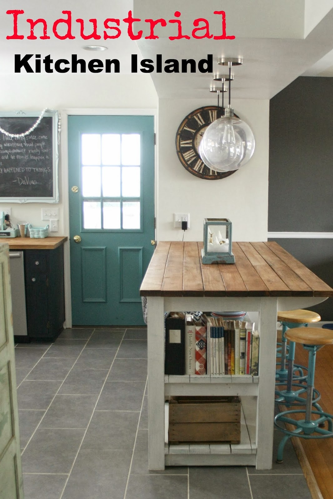My Industrial Look Kitchen Island (and that time I messed ...