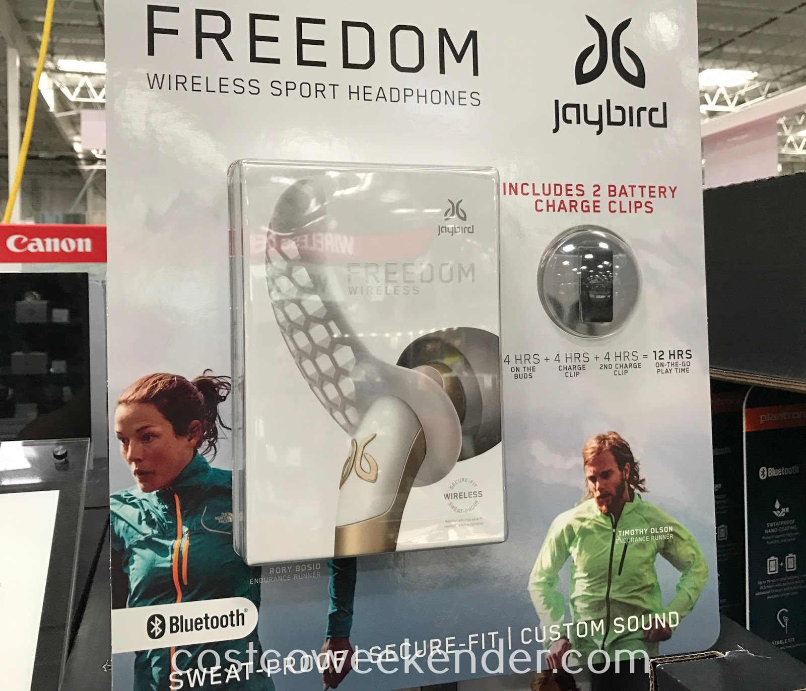 Listen to your music or take a phone call with the Jaybird Freedom Wireless Sport Headphones