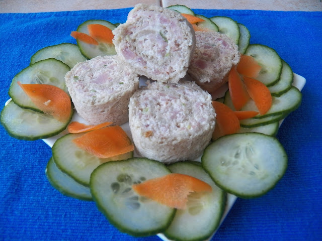 Retro: Ham and Green Onion Pinwheels
