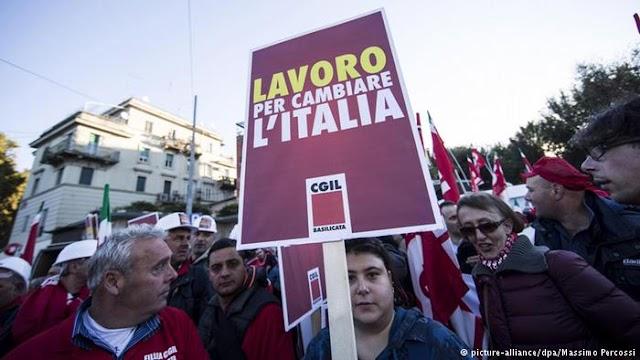 Οι Ιταλοί απεργούν κατά της σύνταξης στα 67
