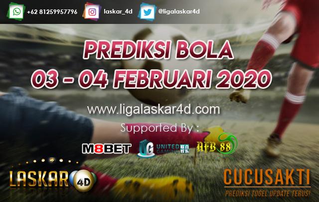 PREDIKSI BOLA JITU TANGGAL 03 – 04 Februari 2020
