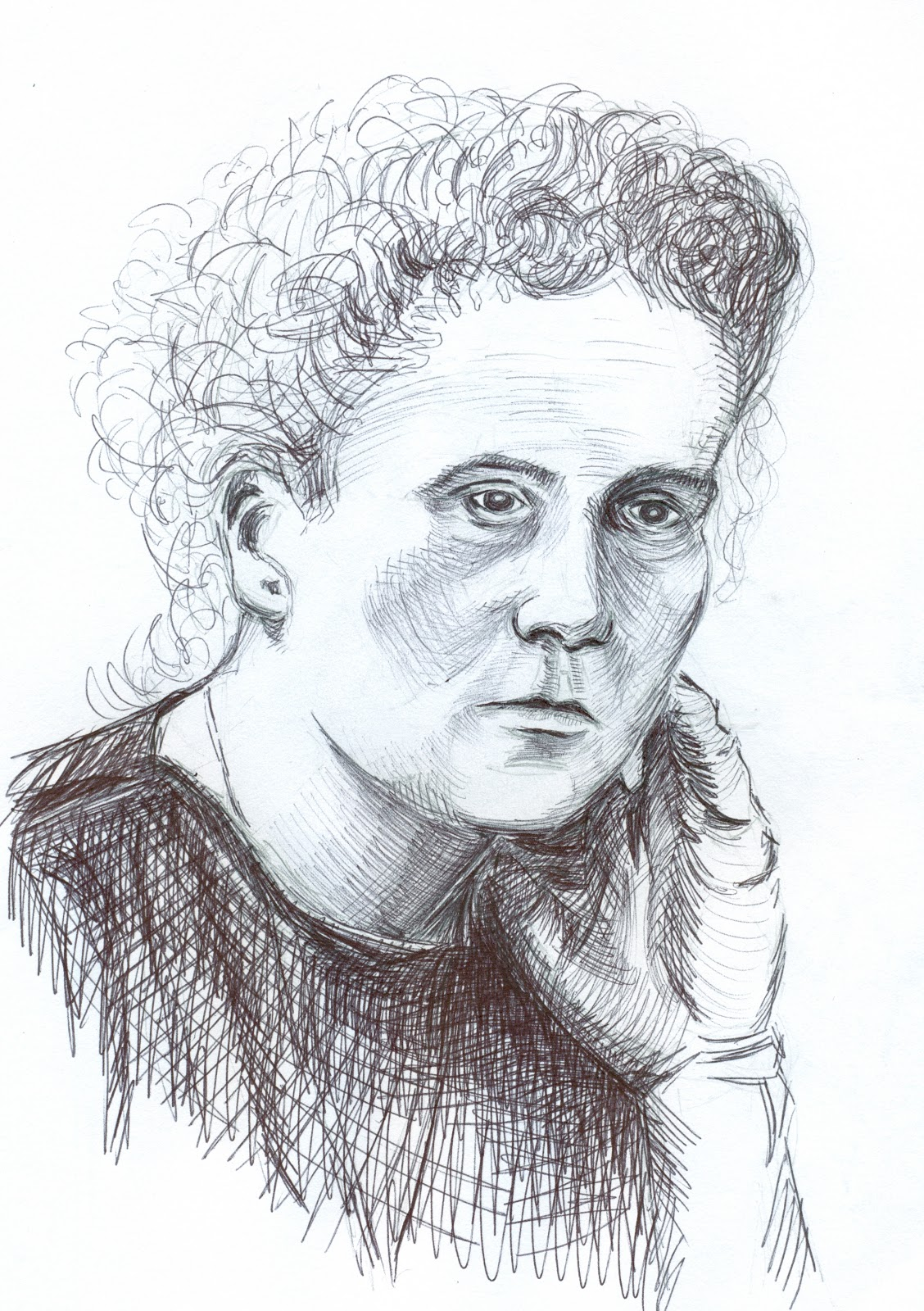It's just a photo of Punchy Marie Curie Drawing