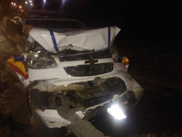 Suspeito morre baleado e policiais ficam feridos após perseguição a L200 com placa de Santa Luzia