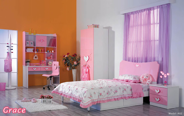 Bedroom sets and bedroom furniture for Girls