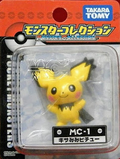 Pichu figure Spiky eared version Takara Tomy Monster Collection MC series