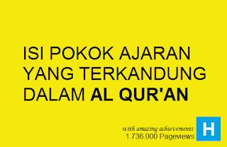 Pokok ajaran yang terkandung pada Al Qur'an