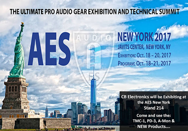 CB Electronics will be Exhibiting at the AES New York, Stand 214