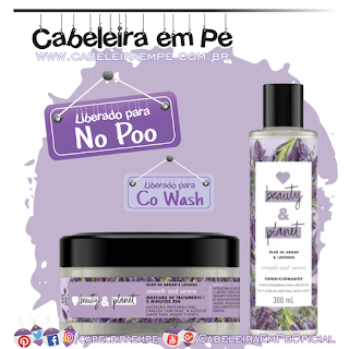 Condicionador e Máscara Óleo de Argan e Lavanda - Love, Beauty and Planet (No Poo e Co Wash)