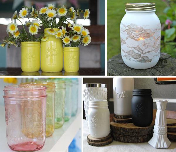 Riciclo creativo barattoli di vetro - Barattoli vetro decorati ...