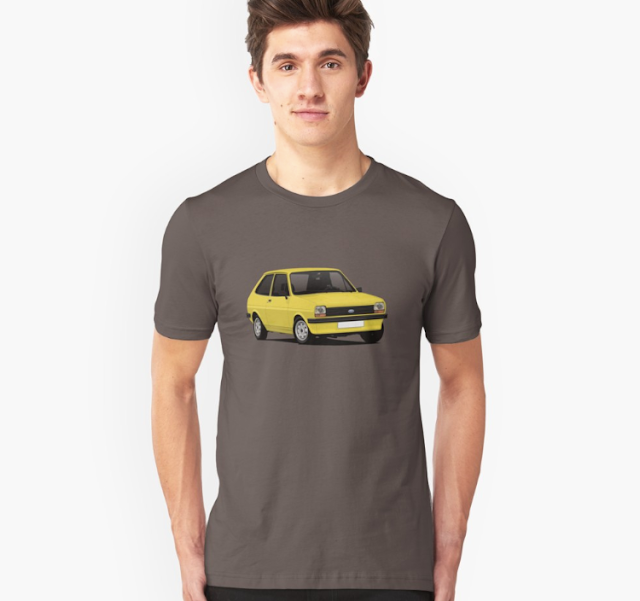 70's Ford Fiesta Mk1 T-shirts - Retro yellow