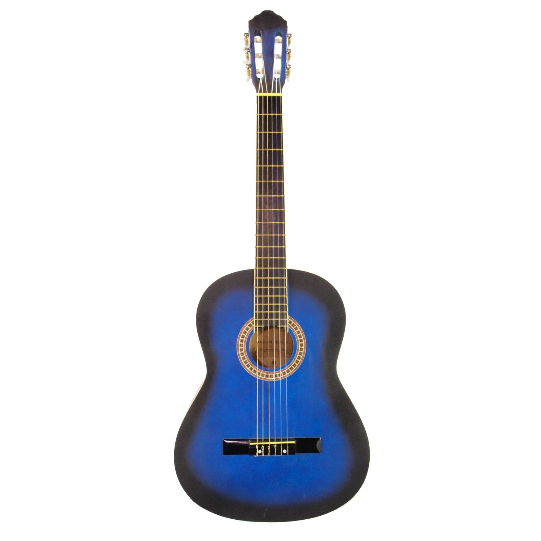 new 40inch blue burst classical acoustic guitar pro model by edmbg for guitars musical. Black Bedroom Furniture Sets. Home Design Ideas