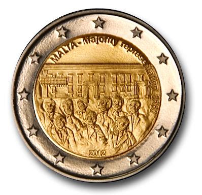 2€ Malta enemmistöedustus 2012