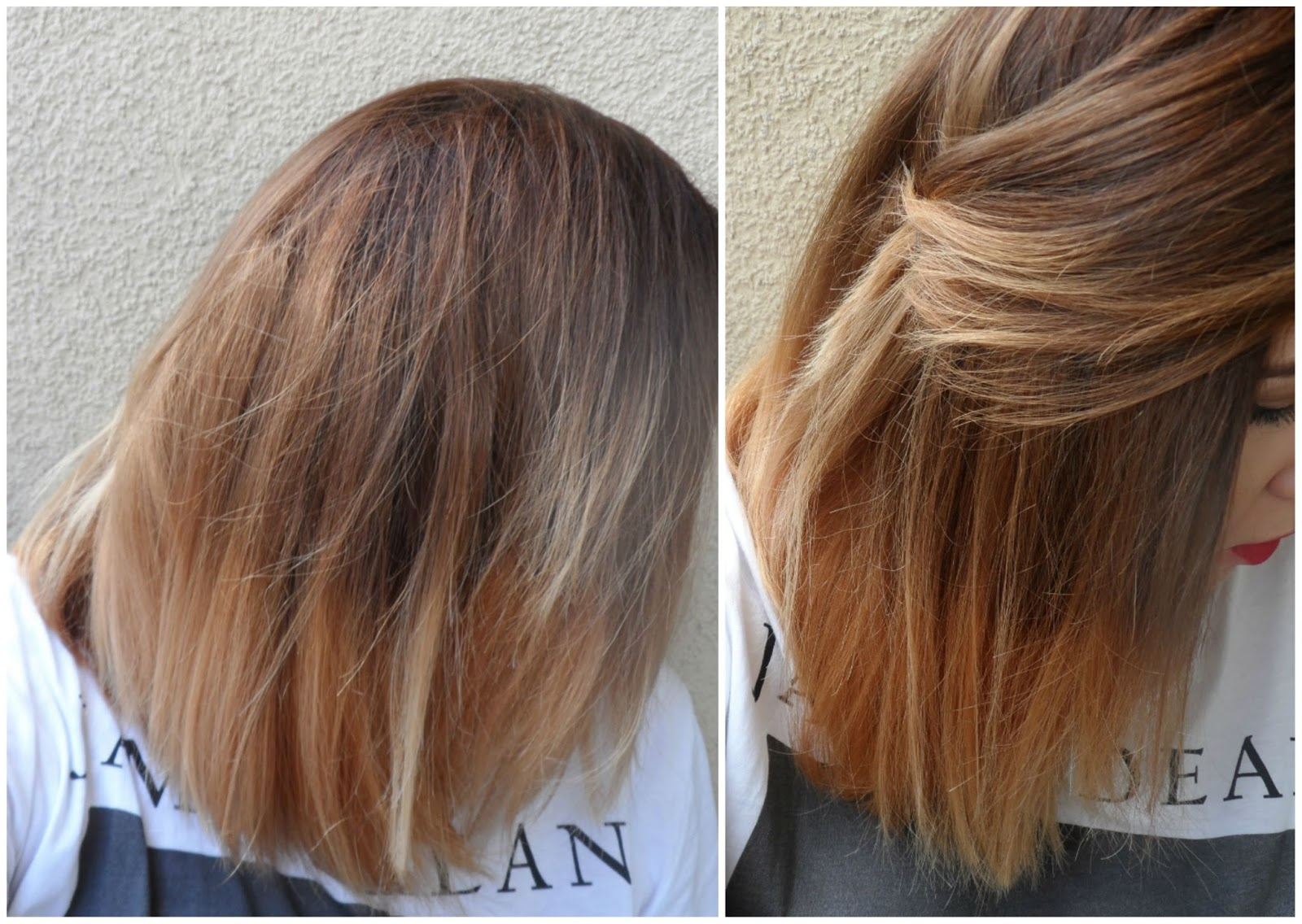 Long Bob Lob Inspired By Chrissy Teigen Short Ombre A Happy