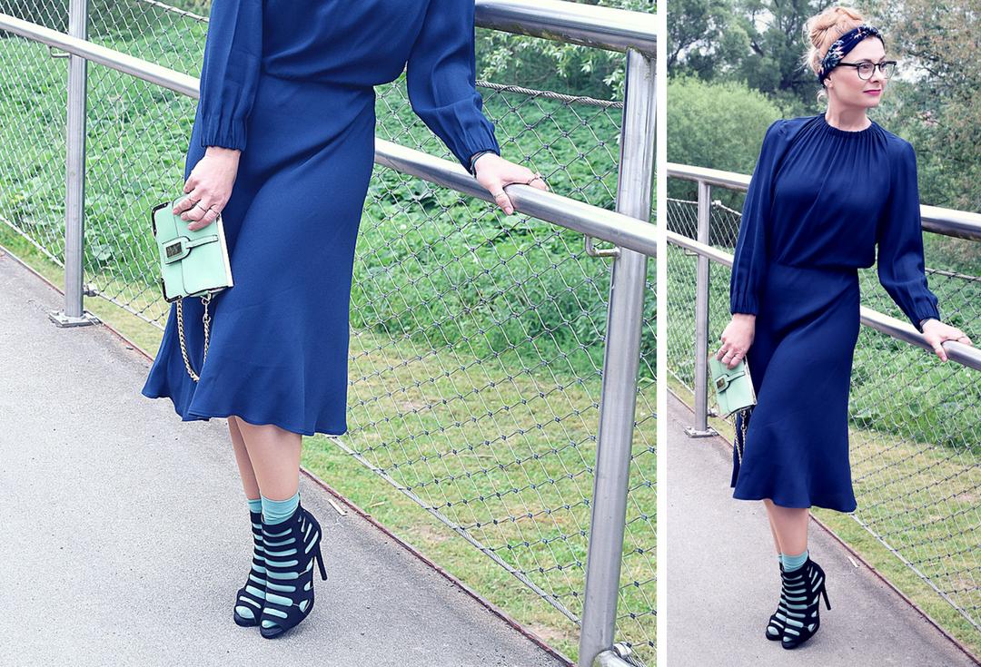 Kleid für Frauen von H&M, Dunkelblaues Kleid